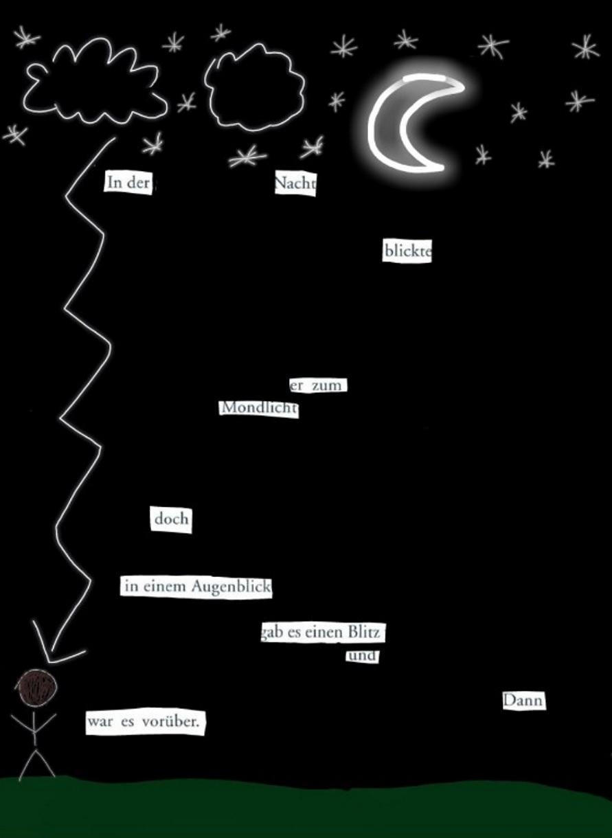 Blackout Poem, Naual Halabieh, 5C, 2020 | Reithmanngymnasium