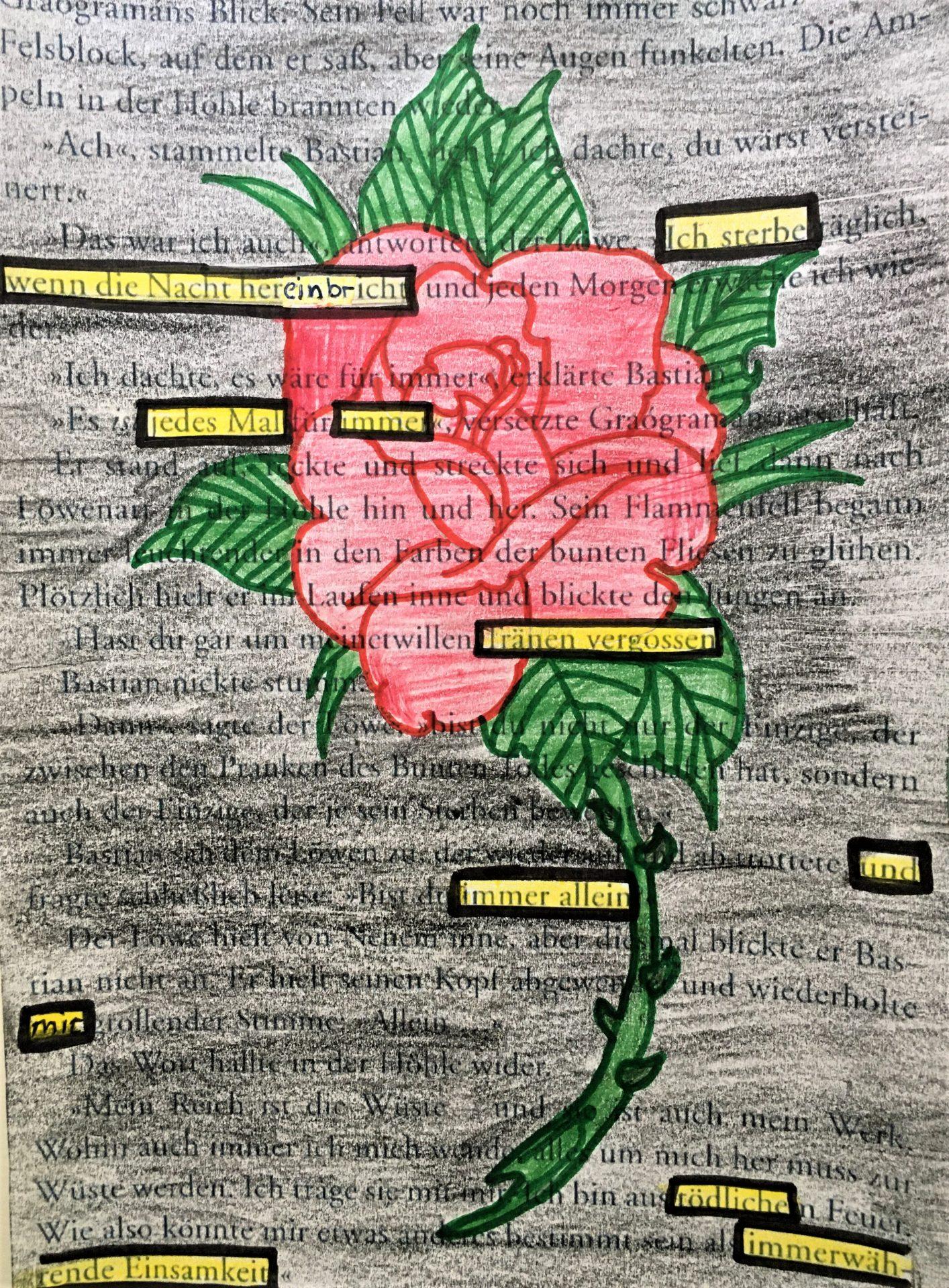 Blackout Poem, Süeda, 6A, 2020 | Reithmanngymnasium